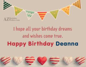 happy birthday deanna Happy Birthday Deanna! happy birthday deanna