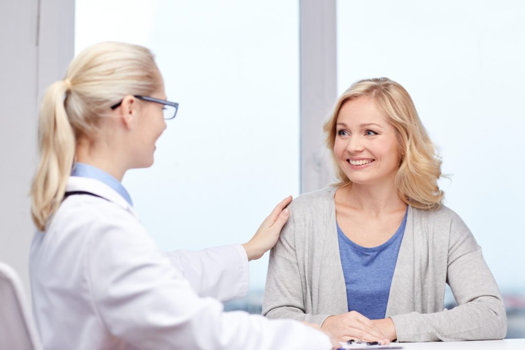 Woman at a doctor consultation