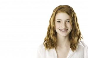 Teenager Smiling With Braces