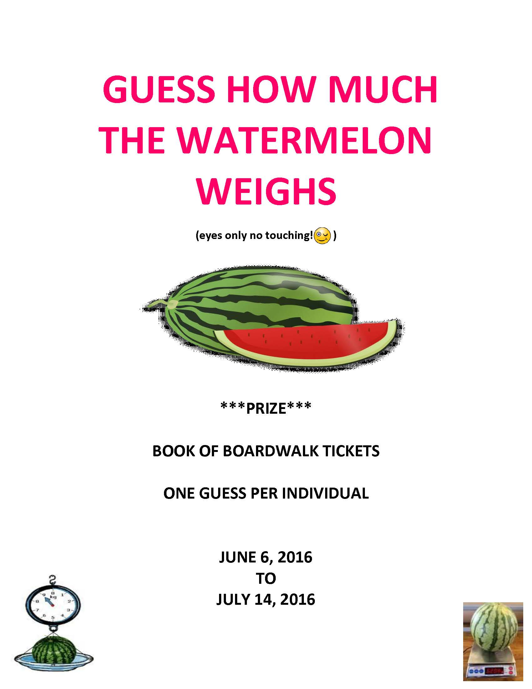 Guess the Weight of the Watermelon!
