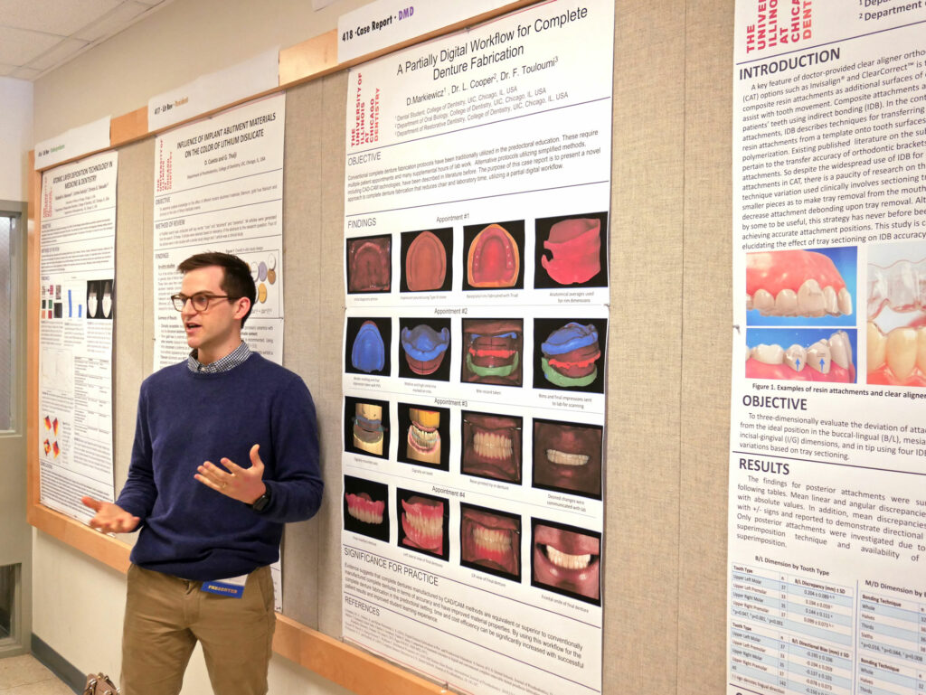 David Markiewicz presents at UIC Clinic and Research Day