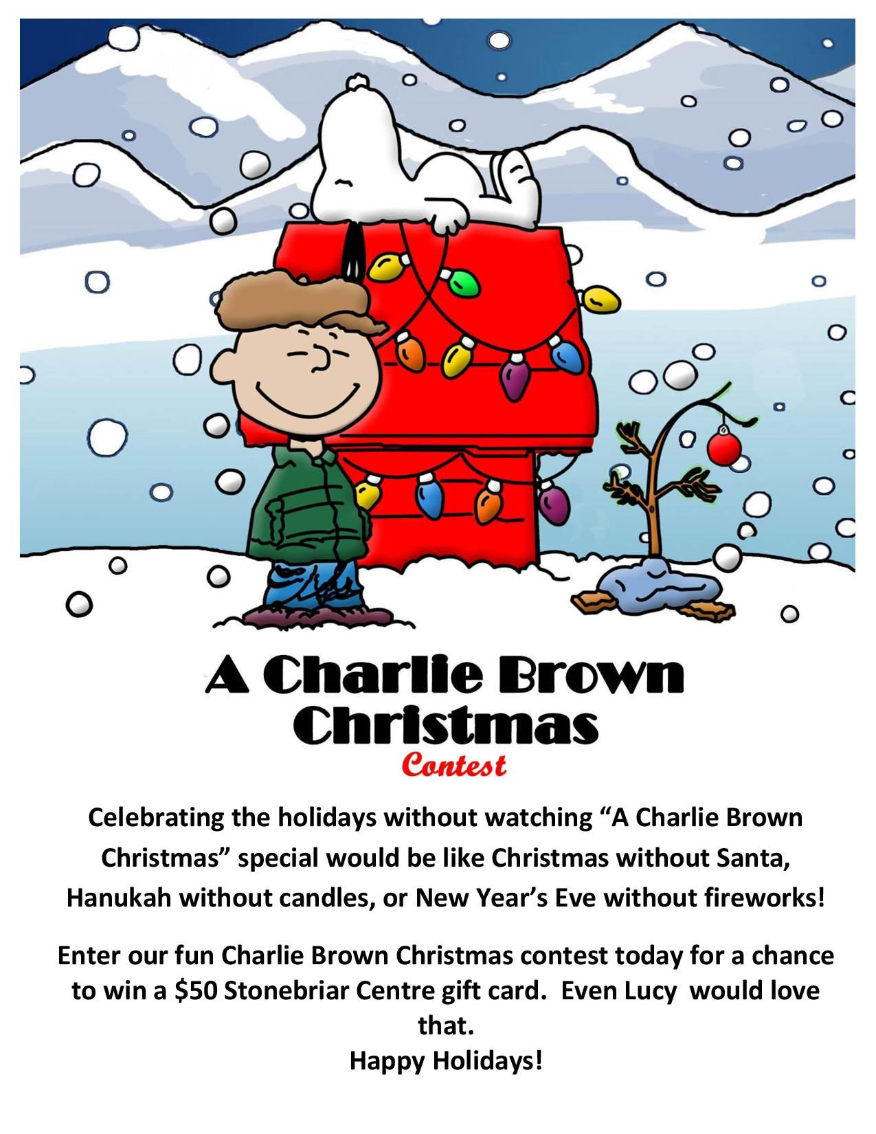 A Charlie Brown Christmas Contest!