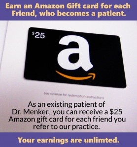 Refer a Friend receive $25