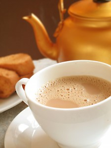Adding milk to your tea may reduce staining.
