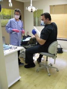 Dr. Zac hard at work.