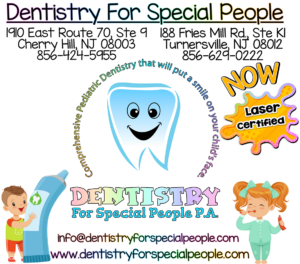 Dentistry For Special People tooth logo and kids